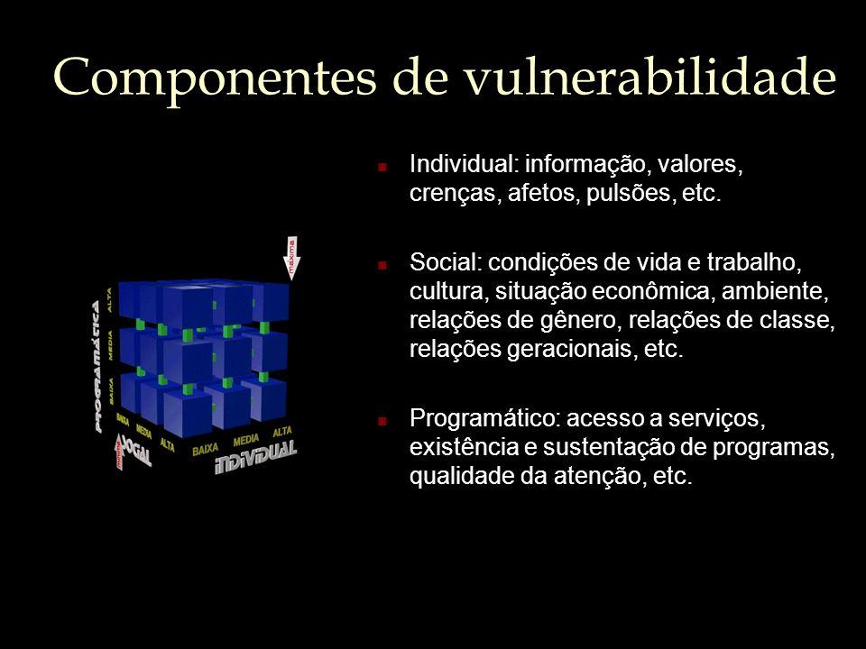 Componentes de vulnerabilidade