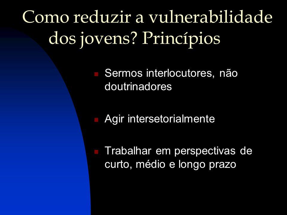 Como reduzir a vulnerabilidade dos jovens Princípios