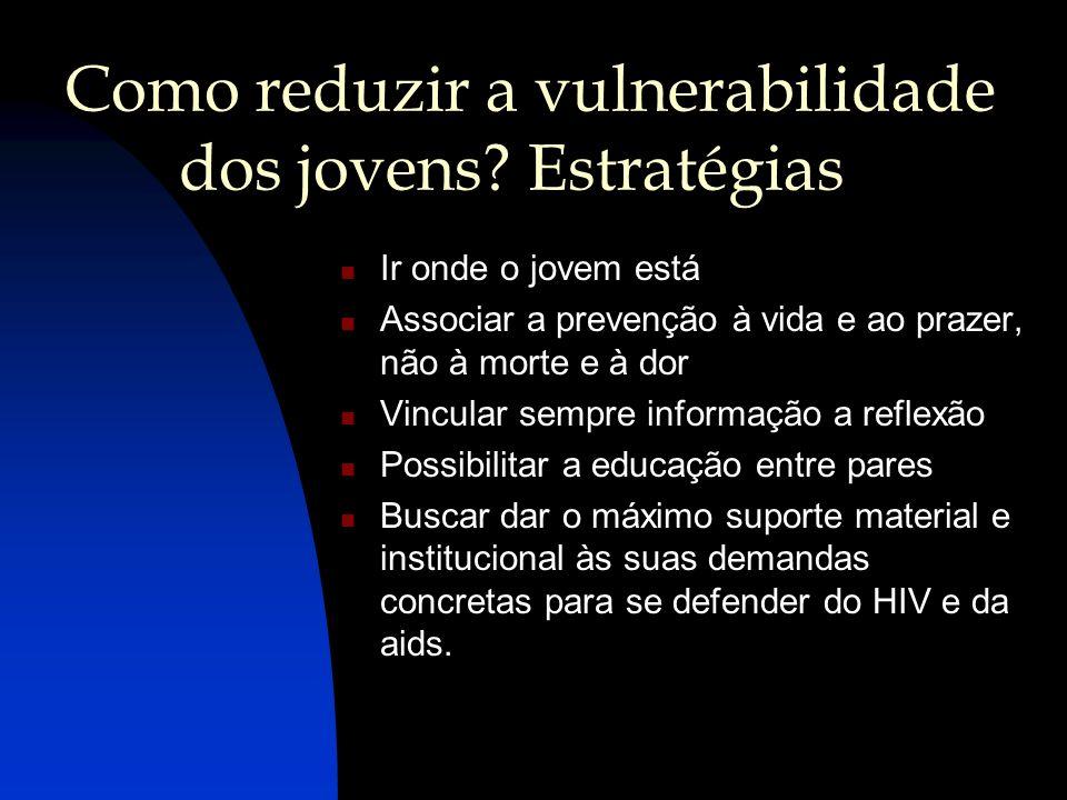 Como reduzir a vulnerabilidade dos jovens Estratégias
