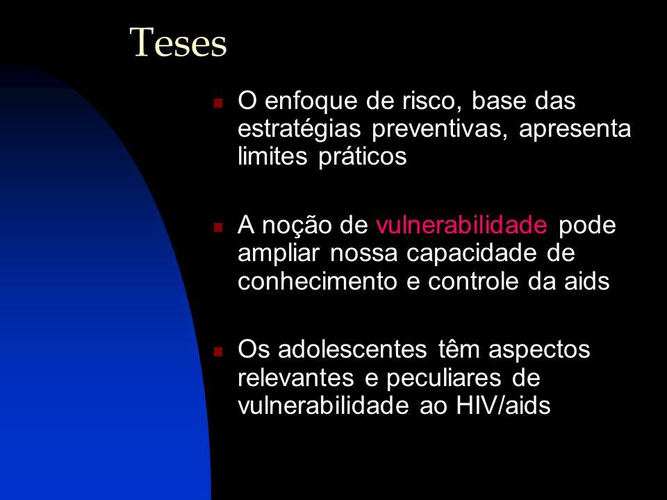 TesesO enfoque de risco, base das estratégias preventivas, apresenta limites práticos.