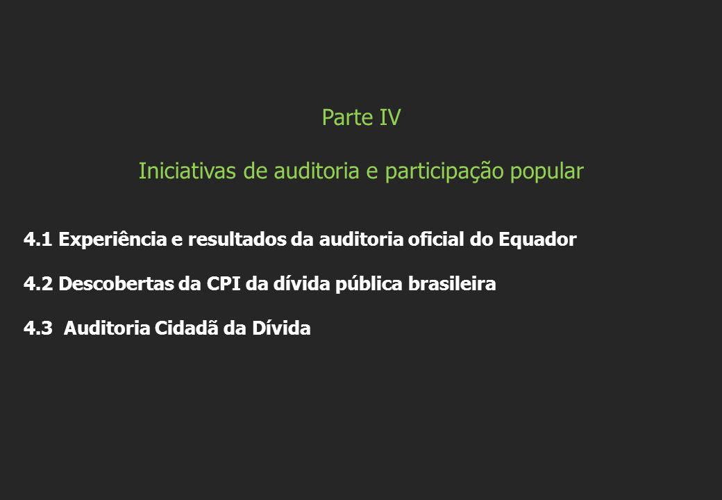 Iniciativas de auditoria e participação popular