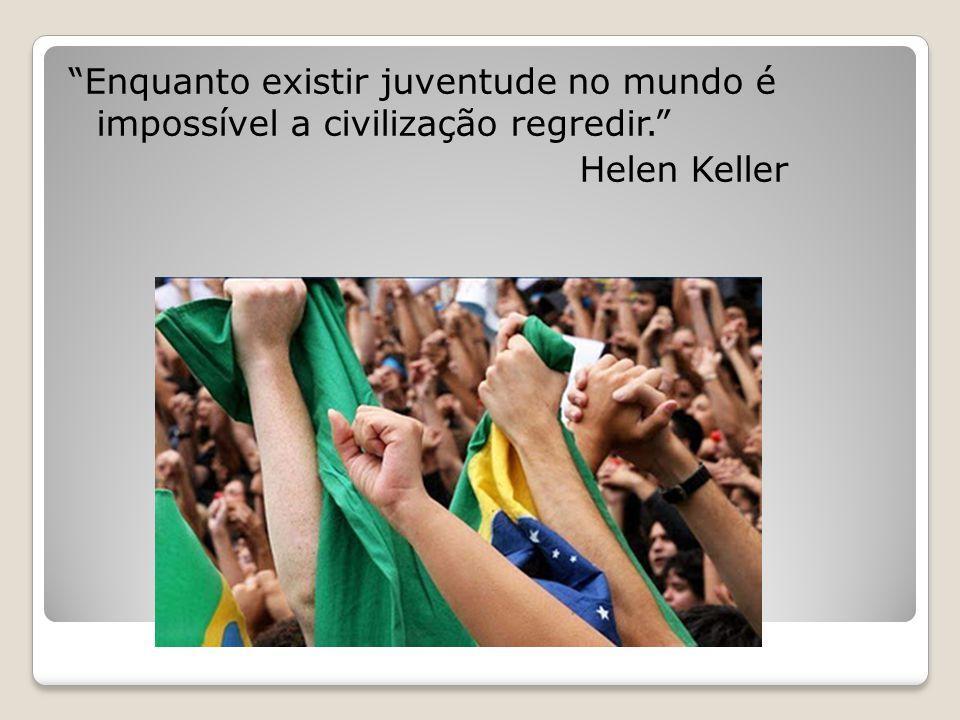 Enquanto existir juventude no mundo é impossível a civilização regredir. Helen Keller