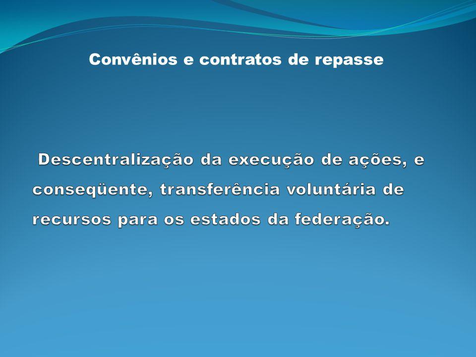 Convênios e contratos de repasse
