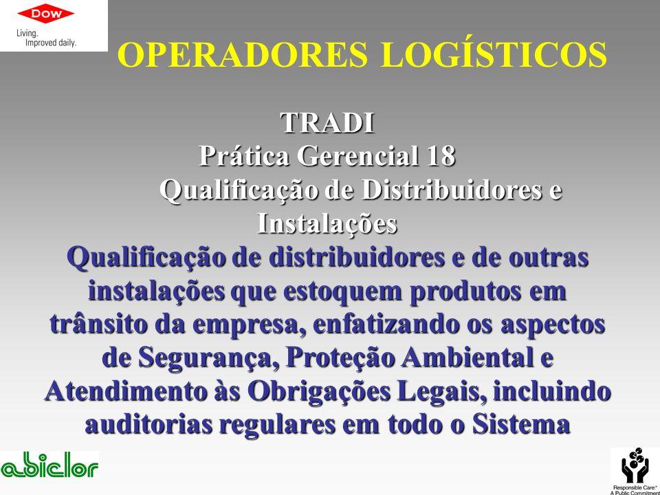 Qualificação de Distribuidores e Instalações