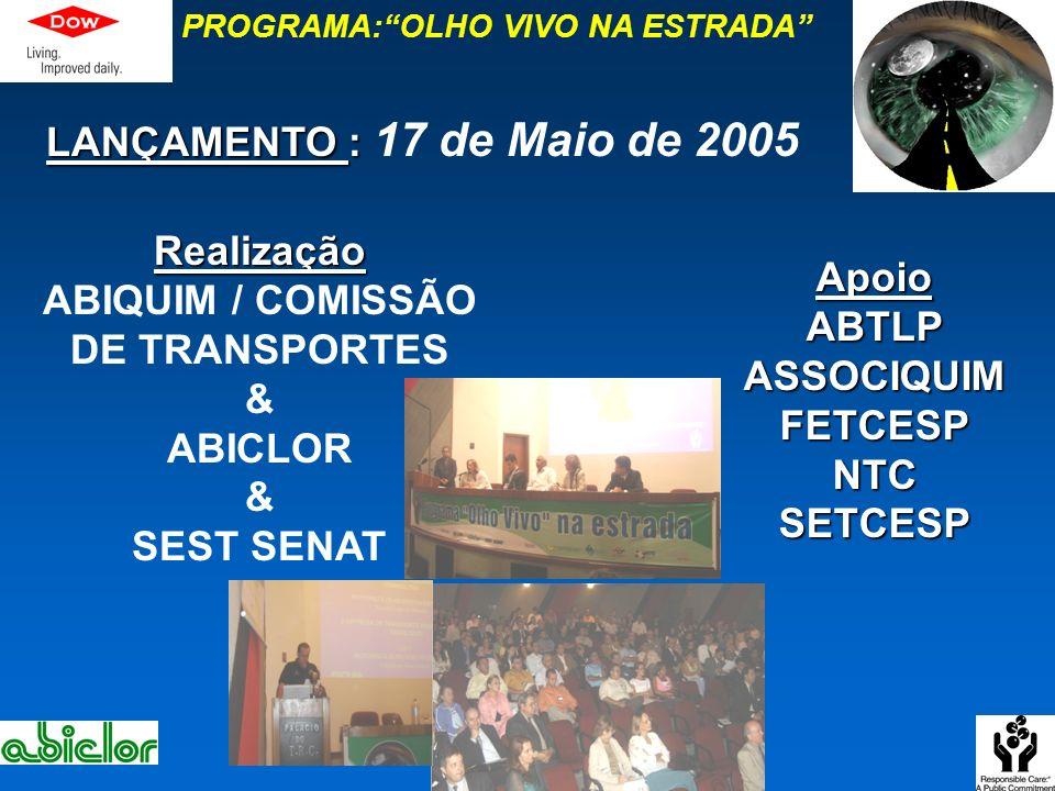 PROGRAMA: OLHO VIVO NA ESTRADA ABIQUIM / COMISSÃO DE TRANSPORTES