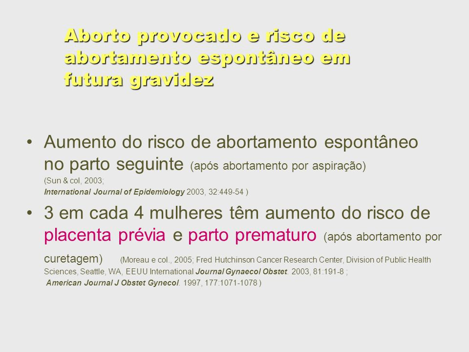 Aborto provocado e risco de abortamento espontâneo em futura gravidez