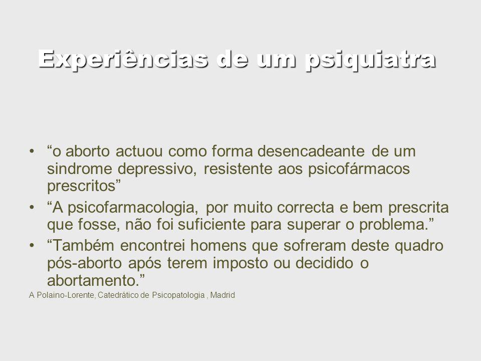Experiências de um psiquiatra