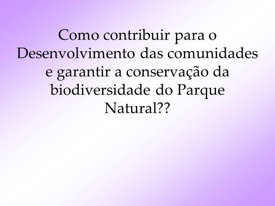 Como contribuir para o Desenvolvimento das comunidades e garantir a conservação da biodiversidade do Parque Natural