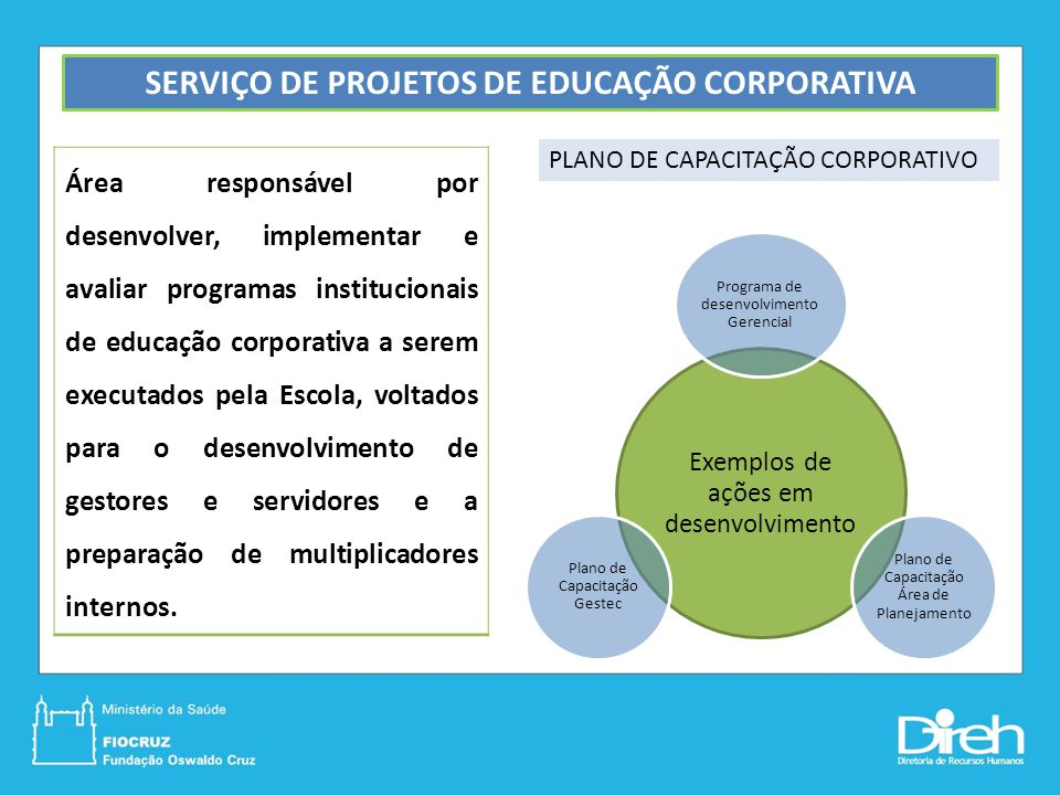 SERVIÇO DE PROJETOS DE EDUCAÇÃO CORPORATIVA