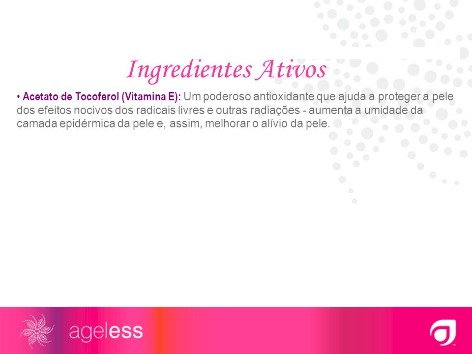 Ingredientes Ativos