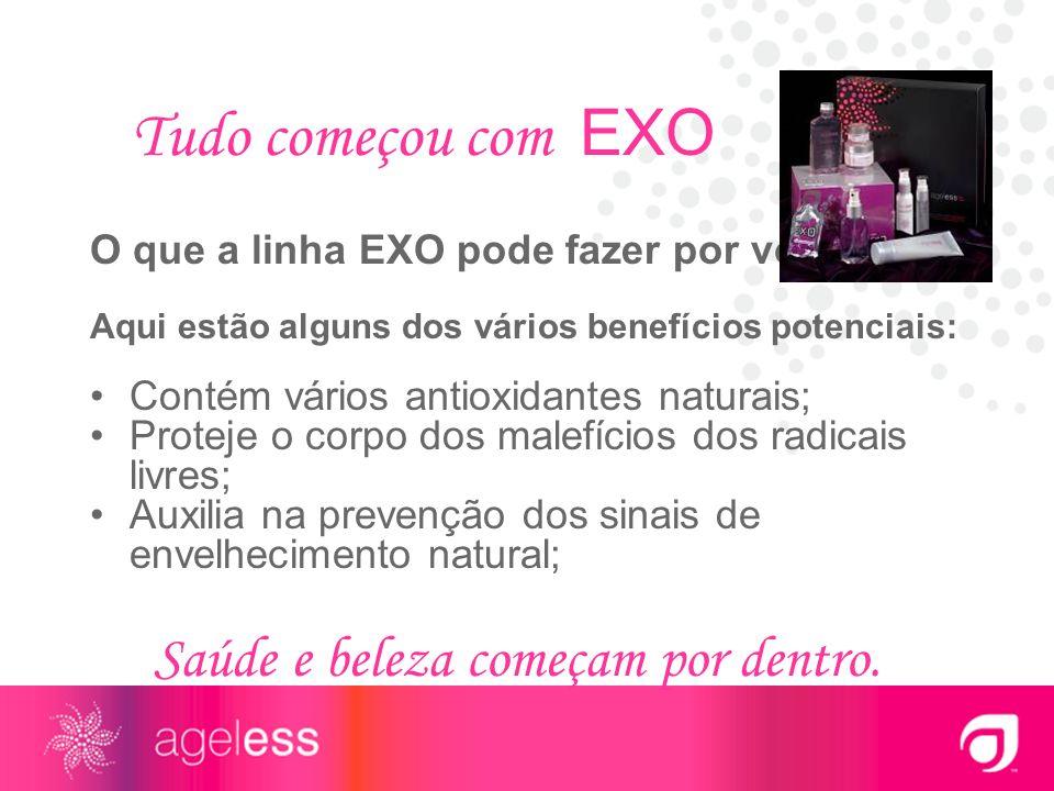 Tudo começou com EXO Saúde e beleza começam por dentro.
