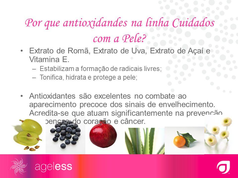 Por que antioxidandes na linha Cuidados com a Pele