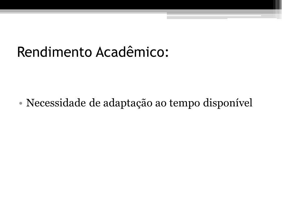 Rendimento Acadêmico: