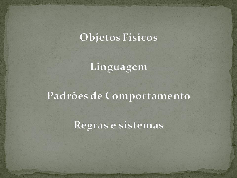 Objetos Físicos Linguagem Padrões de Comportamento Regras e sistemas