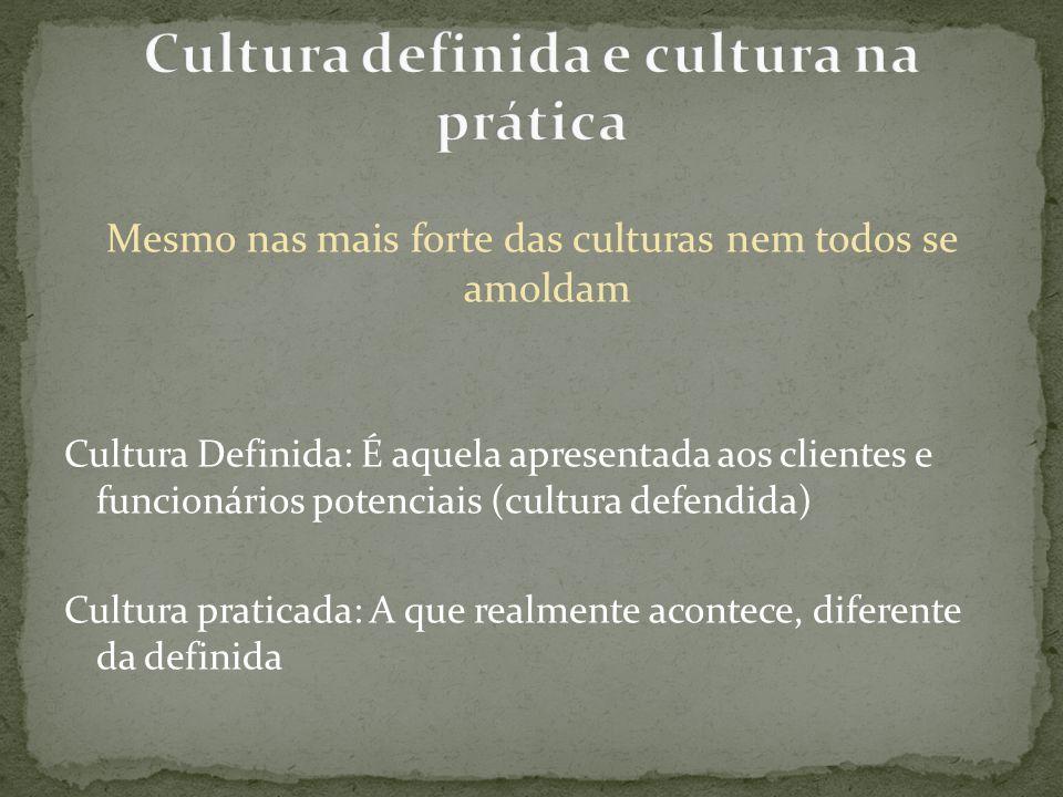 Cultura definida e cultura na prática