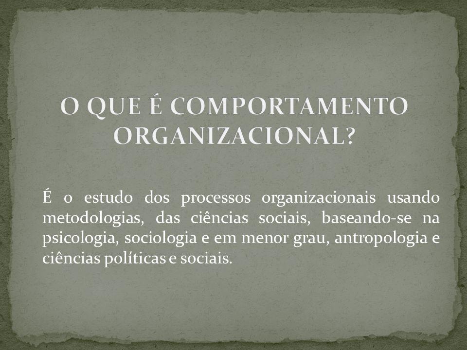 O QUE É COMPORTAMENTO ORGANIZACIONAL