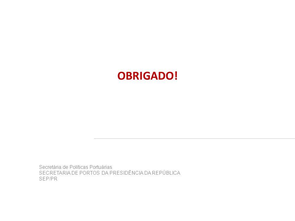 OBRIGADO! Secretária de Políticas Portuárias