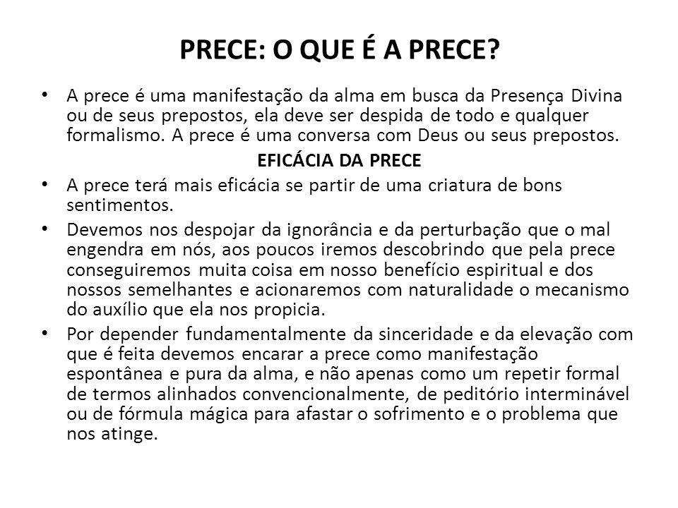 PRECE: O QUE É A PRECE