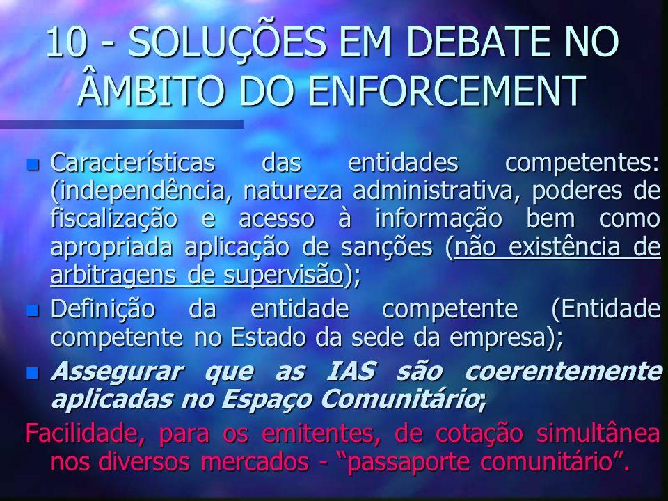 10 - SOLUÇÕES EM DEBATE NO ÂMBITO DO ENFORCEMENT