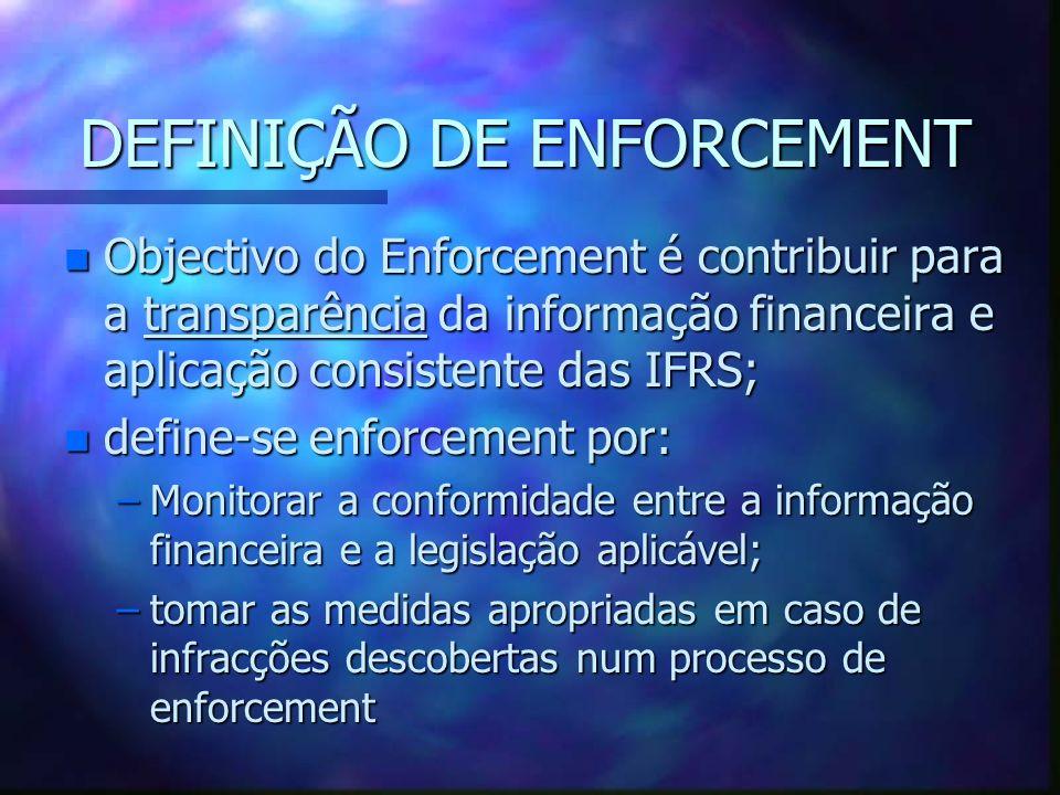 DEFINIÇÃO DE ENFORCEMENT