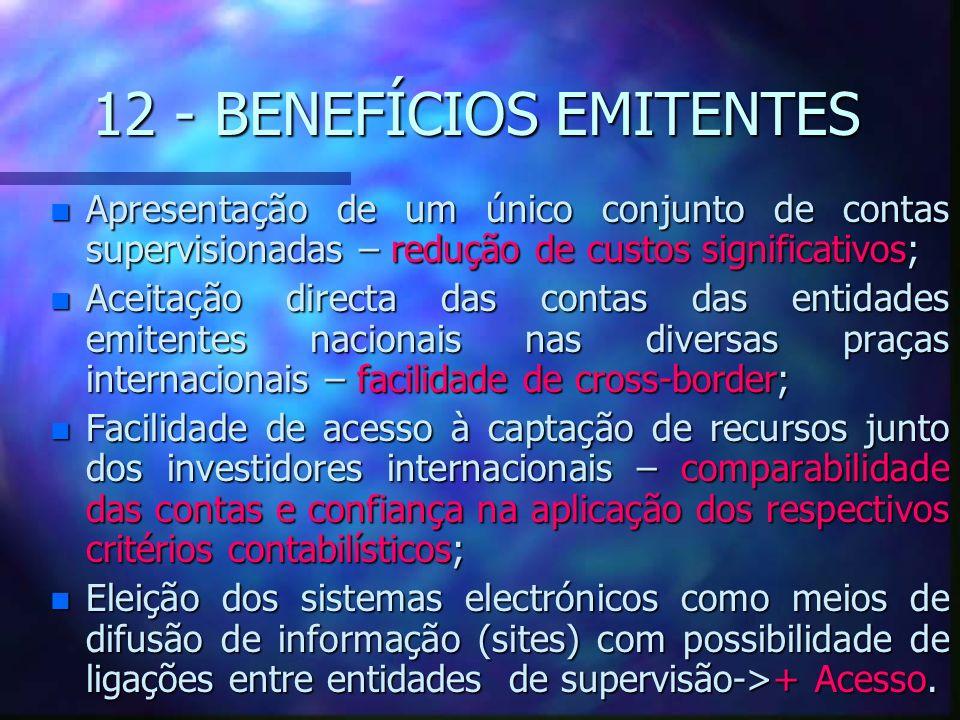 12 - BENEFÍCIOS EMITENTES