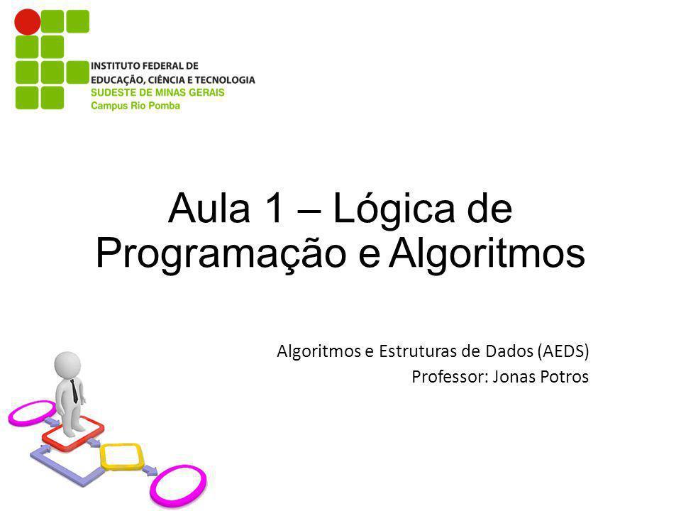 Aula 1 – Lógica de Programação e Algoritmos