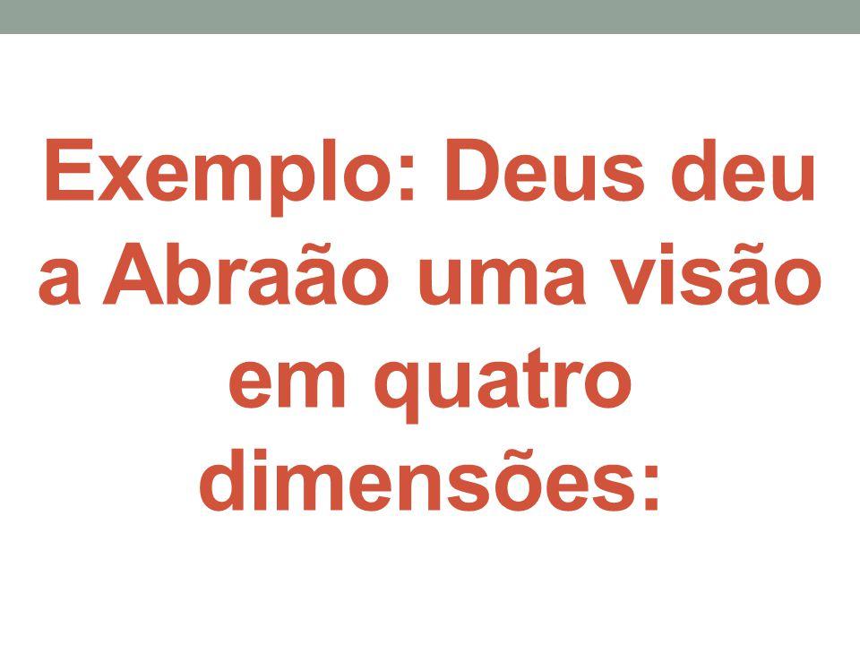 Exemplo: Deus deu a Abraão uma visão em quatro dimensões:
