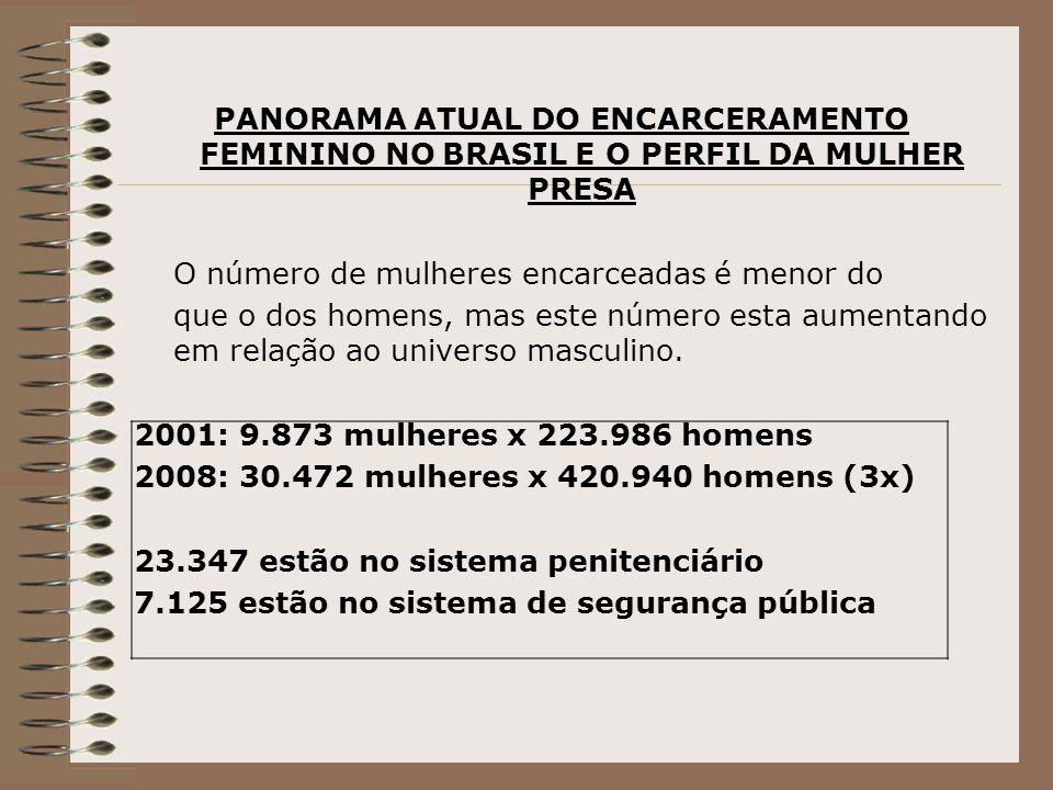 PANORAMA ATUAL DO ENCARCERAMENTO FEMININO NO BRASIL E O PERFIL DA MULHER PRESA