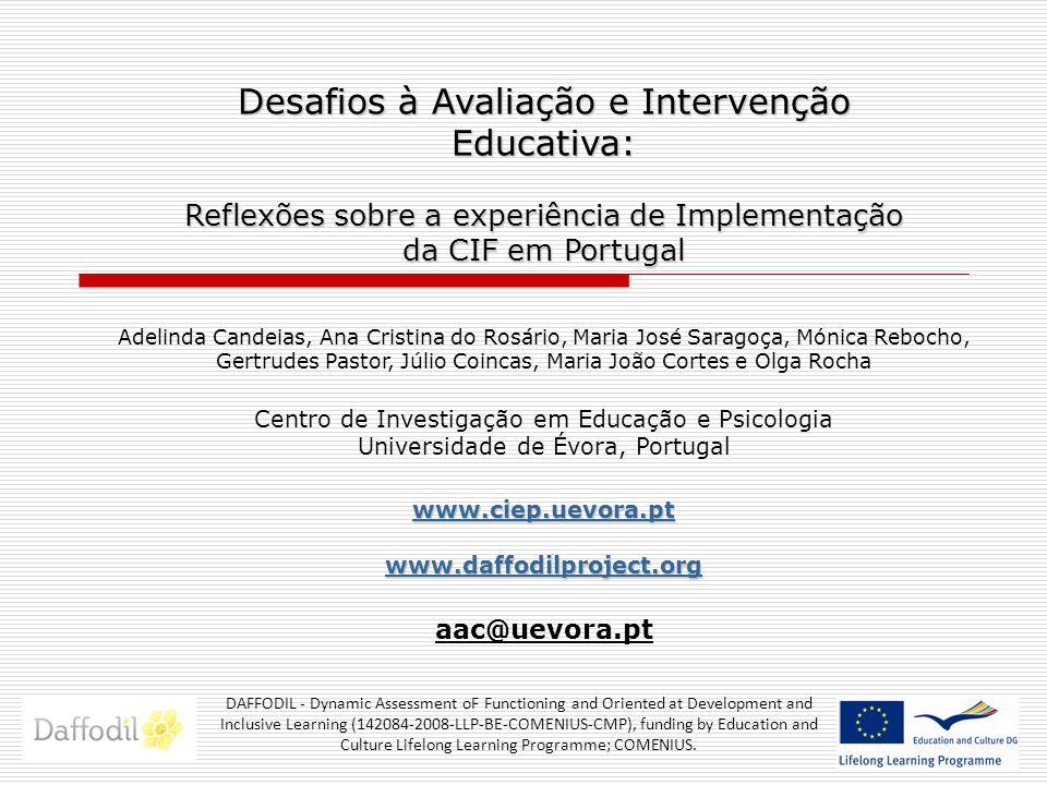 Desafios à Avaliação e Intervenção Educativa: