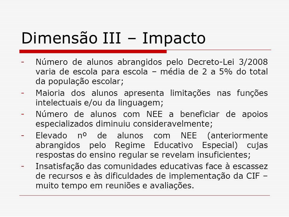 Dimensão III – Impacto