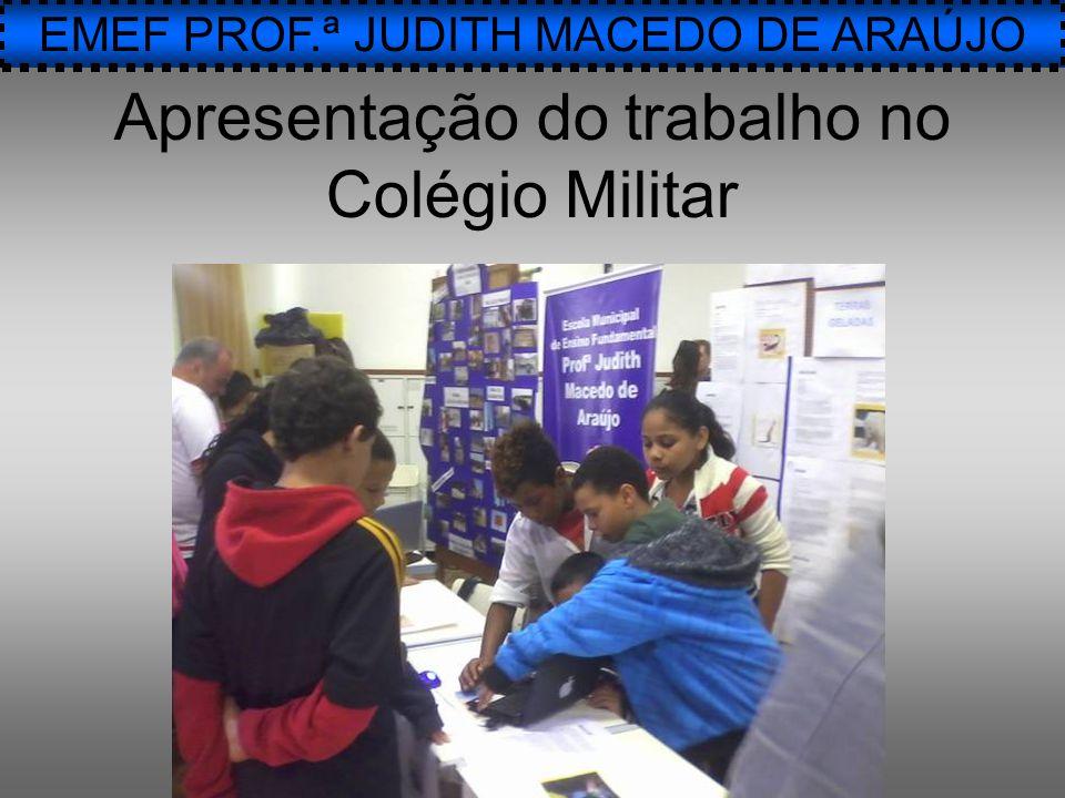 Apresentação do trabalho no Colégio Militar