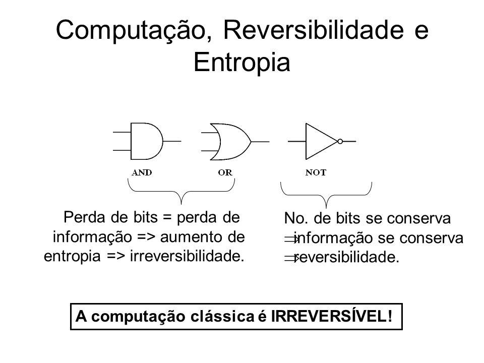 Computação, Reversibilidade e Entropia