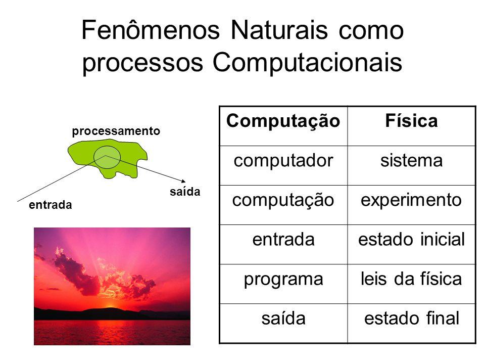 Fenômenos Naturais como processos Computacionais