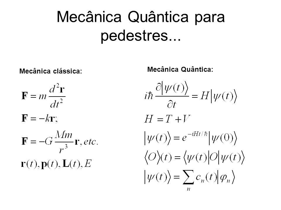 Mecânica Quântica para pedestres...