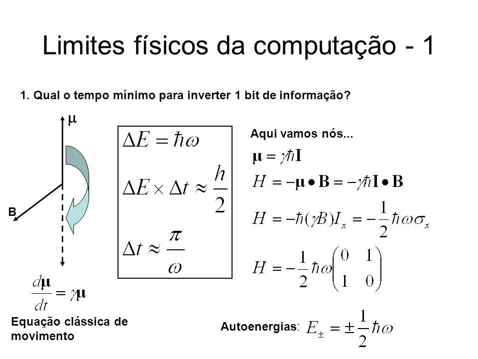 Limites físicos da computação - 1