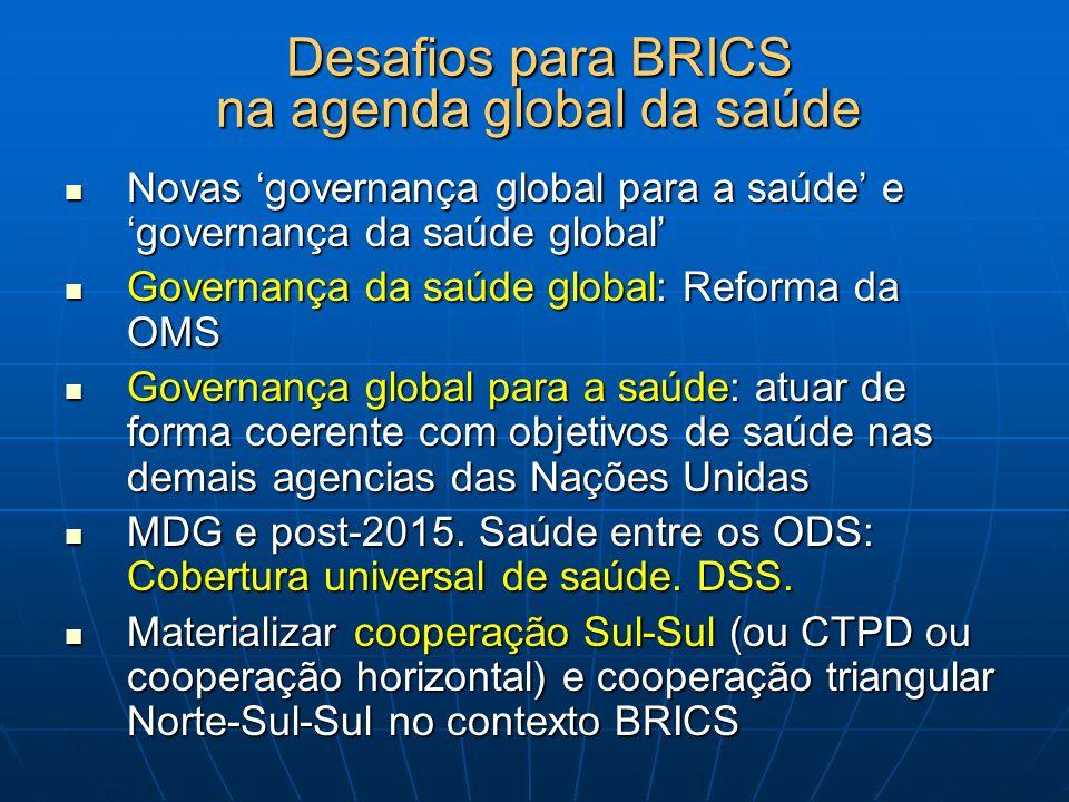 Desafios para BRICS na agenda global da saúde