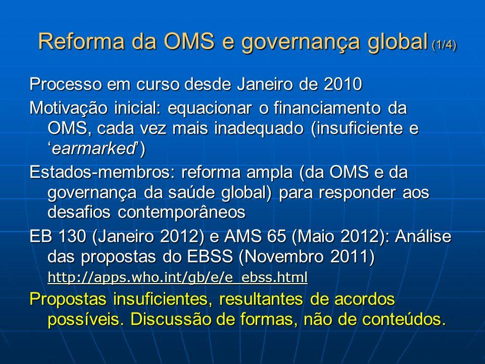 Reforma da OMS e governança global (1/4)