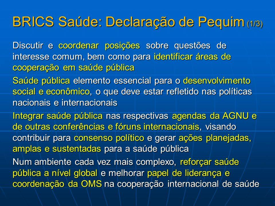 BRICS Saúde: Declaração de Pequim (1/3)