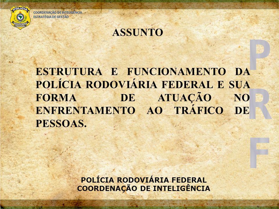 POLÍCIA RODOVIÁRIA FEDERAL COORDENAÇÃO DE INTELIGÊNCIA