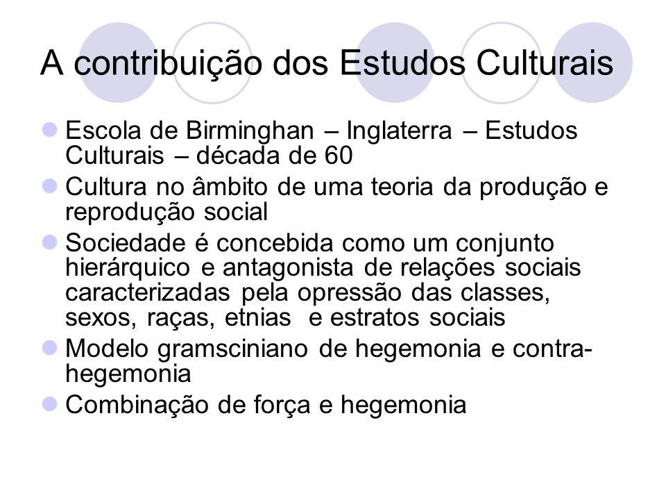 A contribuição dos Estudos Culturais