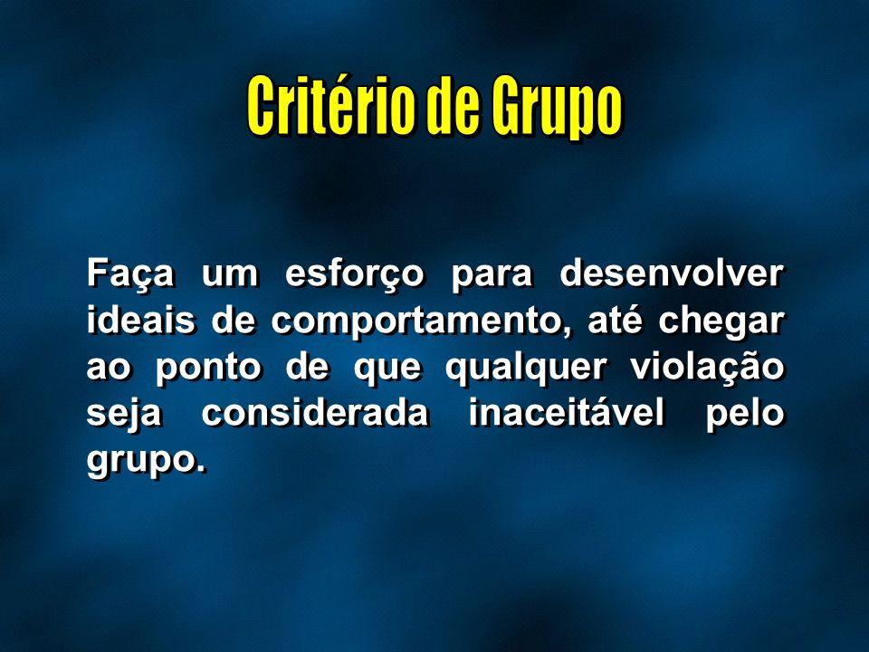 Critério de Grupo