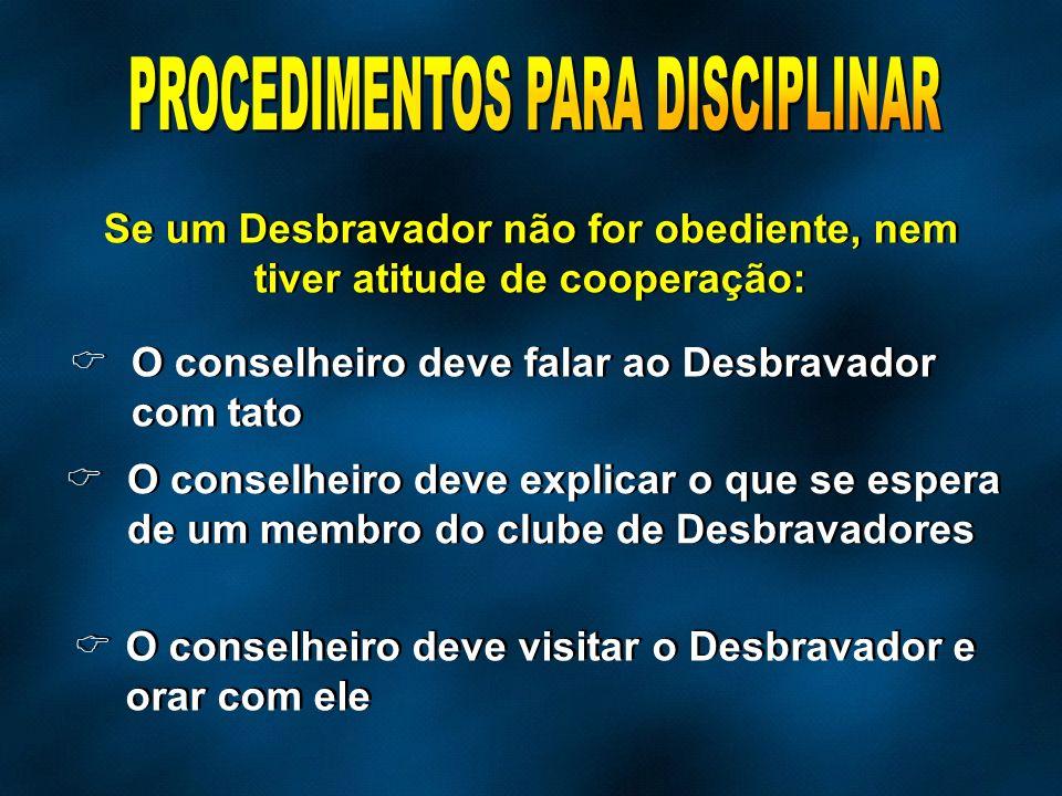 PROCEDIMENTOS PARA DISCIPLINAR