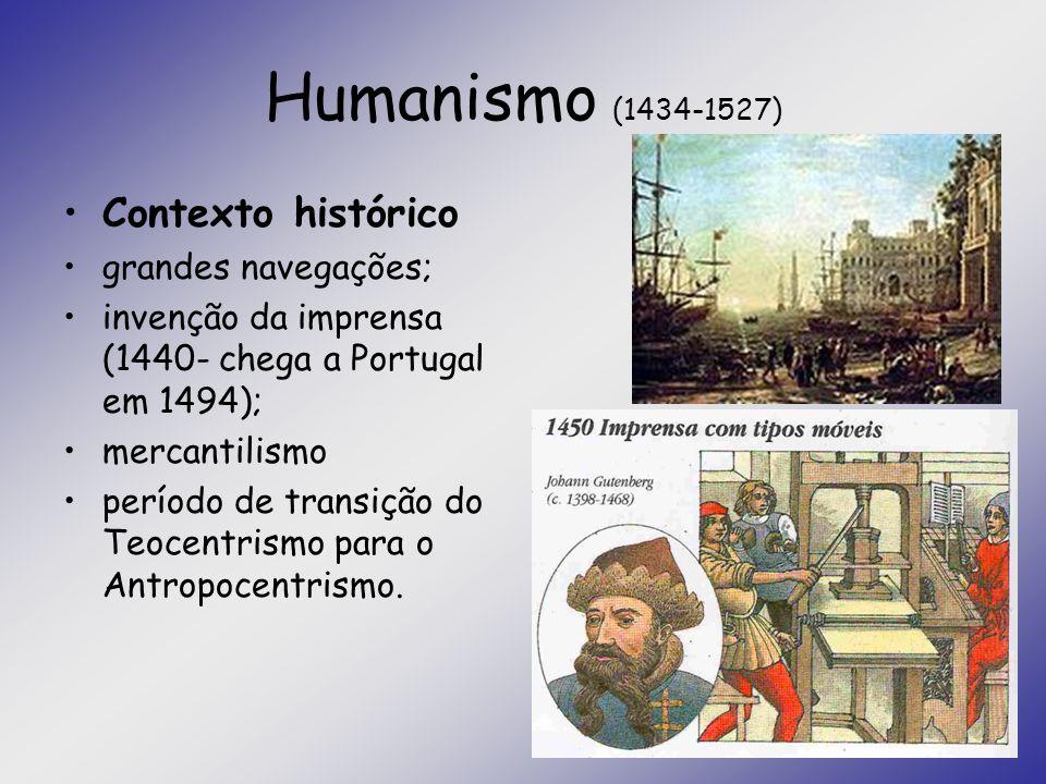 Humanismo (1434-1527) Contexto histórico grandes navegações;