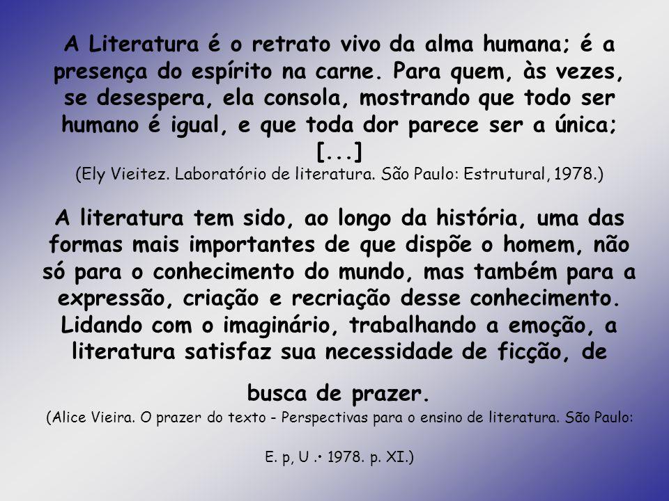 A Literatura é o retrato vivo da alma humana; é a presença do espírito na carne.