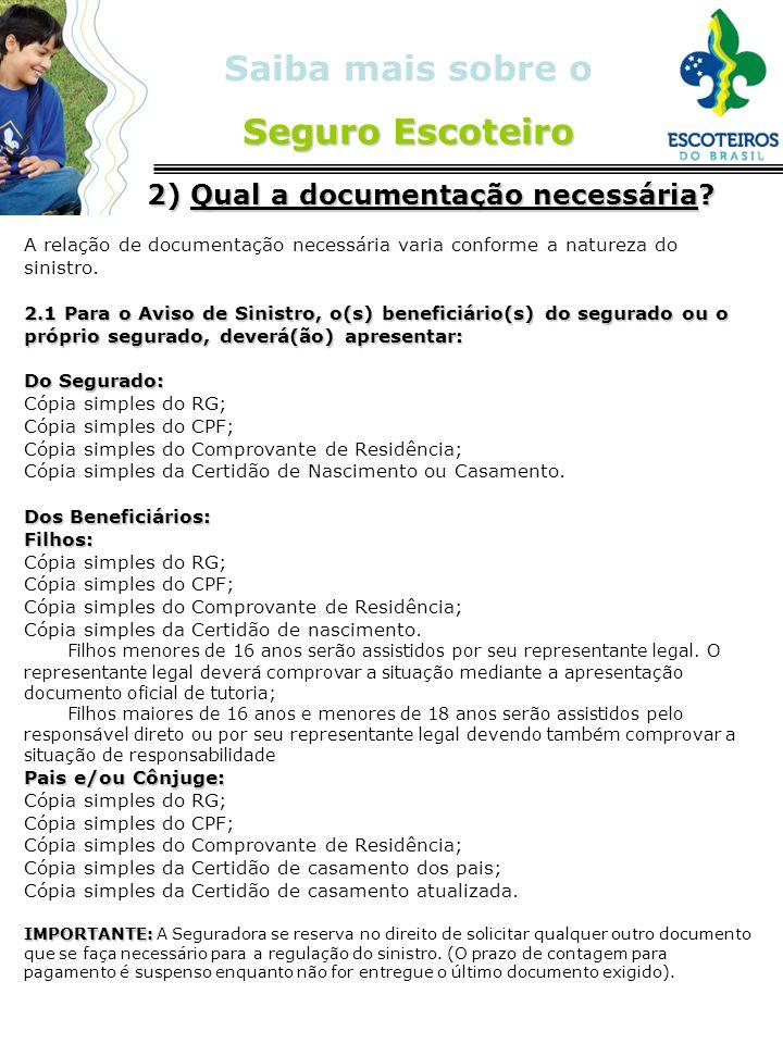 2) Qual a documentação necessária