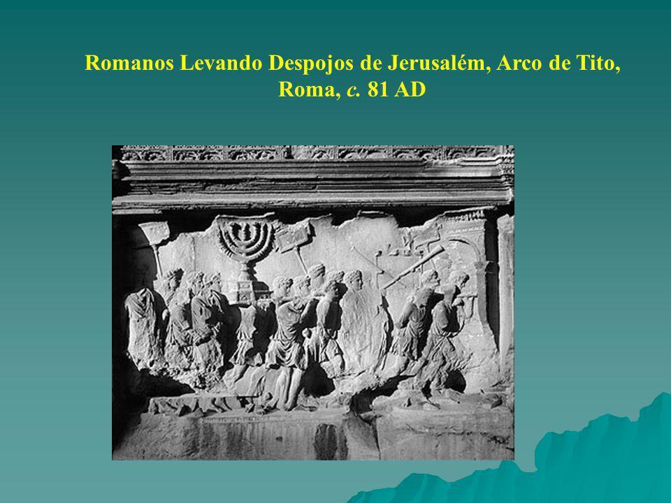 Romanos Levando Despojos de Jerusalém, Arco de Tito,