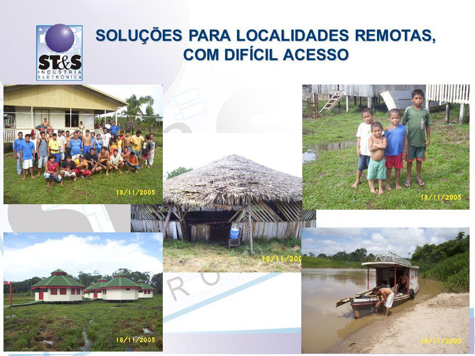 SOLUÇÕES PARA LOCALIDADES REMOTAS, COM DIFÍCIL ACESSO
