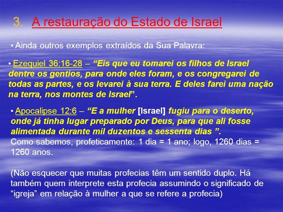 A restauração do Estado de Israel