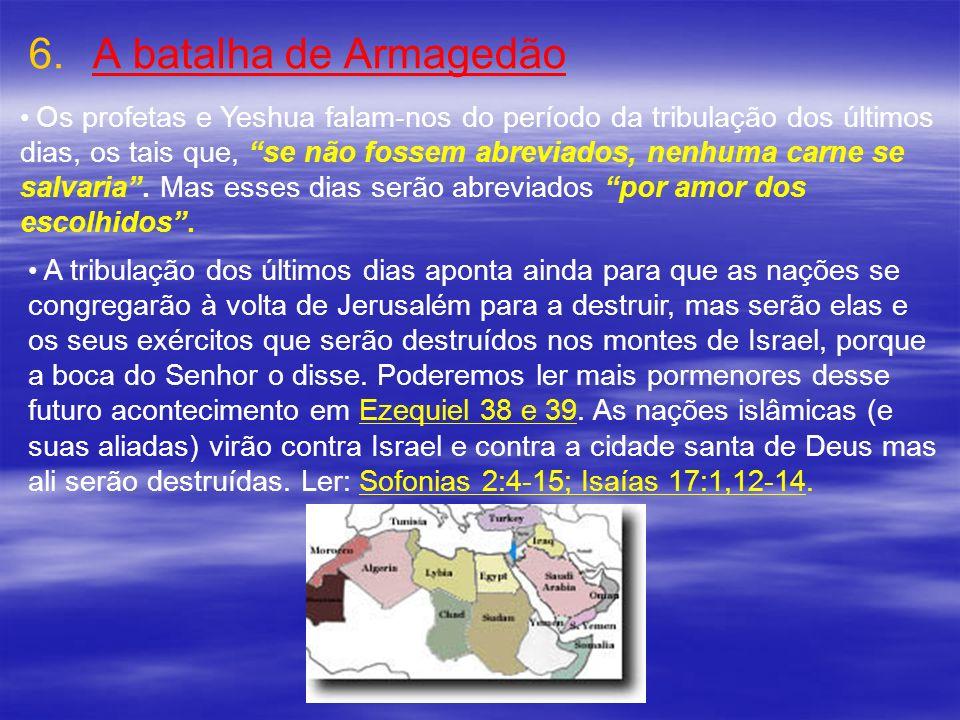 A batalha de ArmagedãoOs profetas e Yeshua falam-nos do período da tribulação dos últimos.