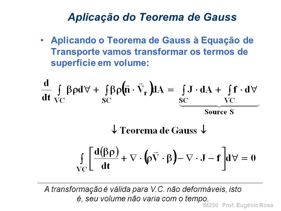 Aplicação do Teorema de Gauss